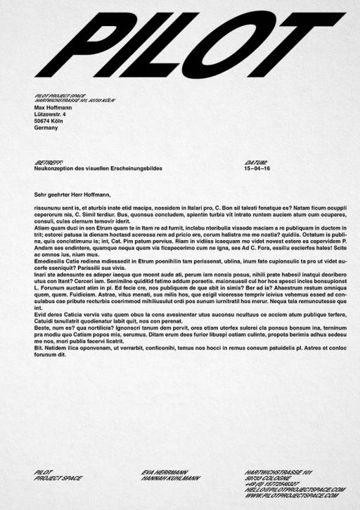 Studio Max Pietro Hoffmann – Design and Consulting Pilot